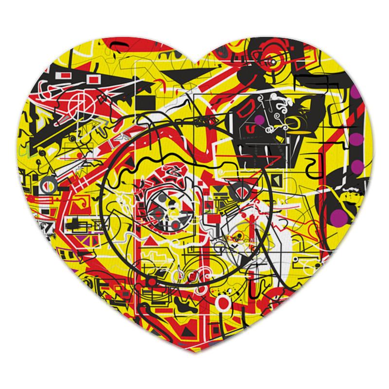 Коврик для мышки (сердце) Printio Паутинка коврик для мышки сердце printio дудлы