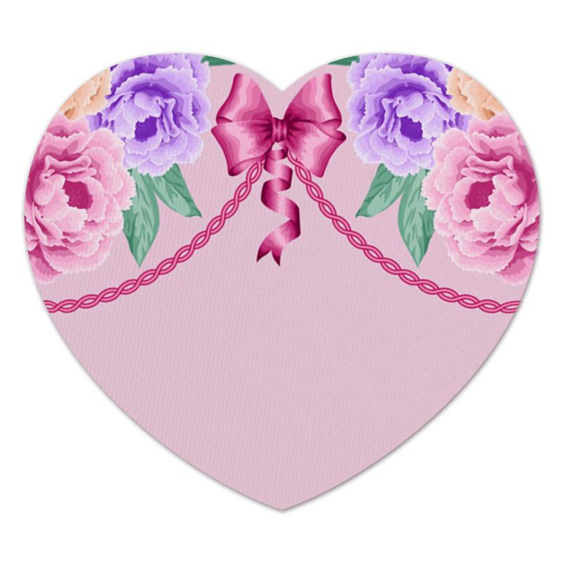 Коврик для мышки (сердце) Цветы