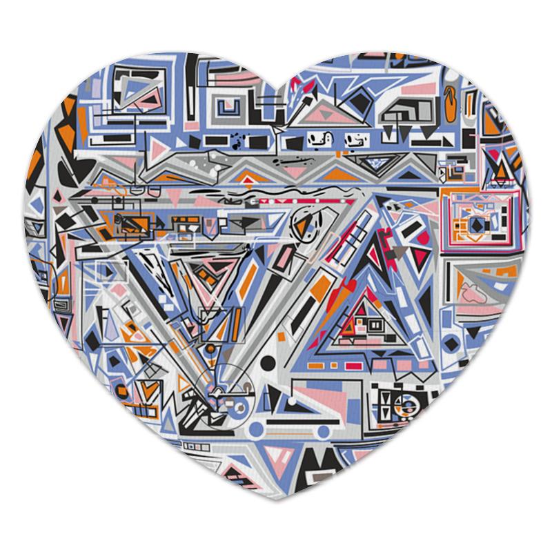 Коврик для мышки (сердце) Printio Ташизм коврик для мышки сердце printio ландыши