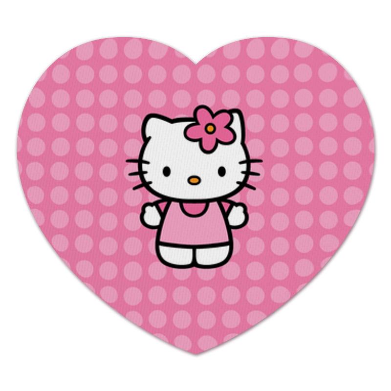 Коврик для мышки (сердце) Printio Kitty в горошек чаша горошек 2 л бел син 1150426