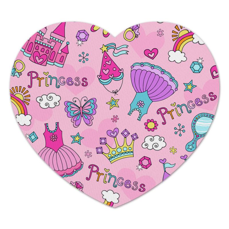 Коврик для мышки (сердце) Printio Принцесса обучающая книга азбукварик секреты маленькой принцессы 9785402000568