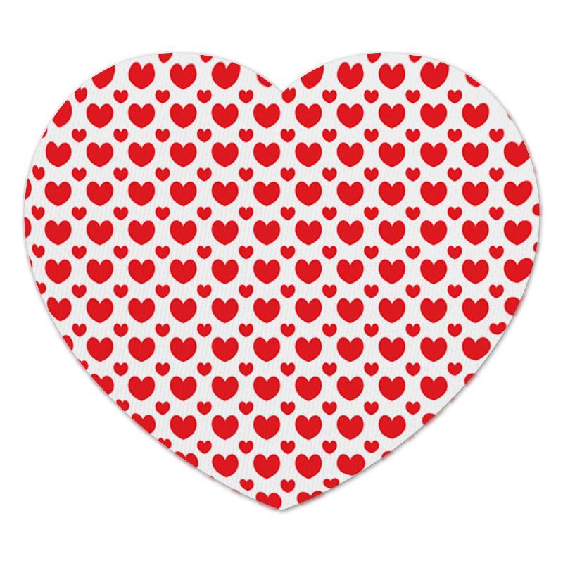 Коврик для мышки (сердце) Printio Красные сердечки коврик для мышки printio розовые сердечки