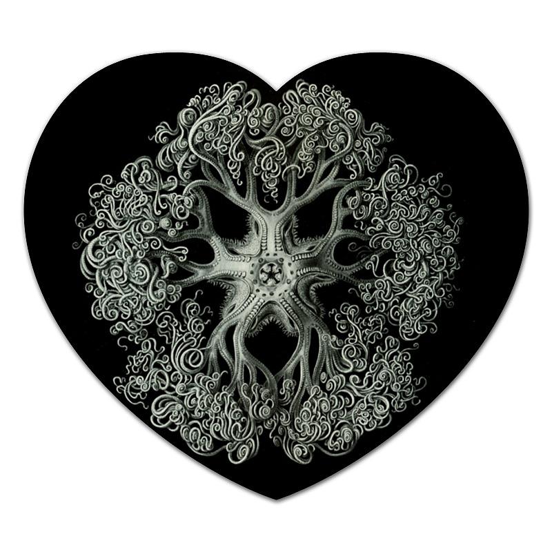 цена Коврик для мышки (сердце) Printio Ophiodea эрнста геккеля