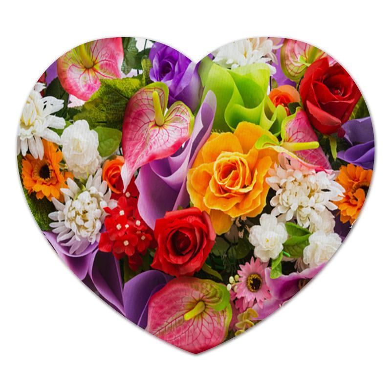 Коврик для мышки (сердце) Printio Flower