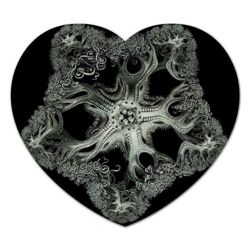 цена на Коврик для мышки (сердце) Printio Astrophyton darwinium эрнста геккеля