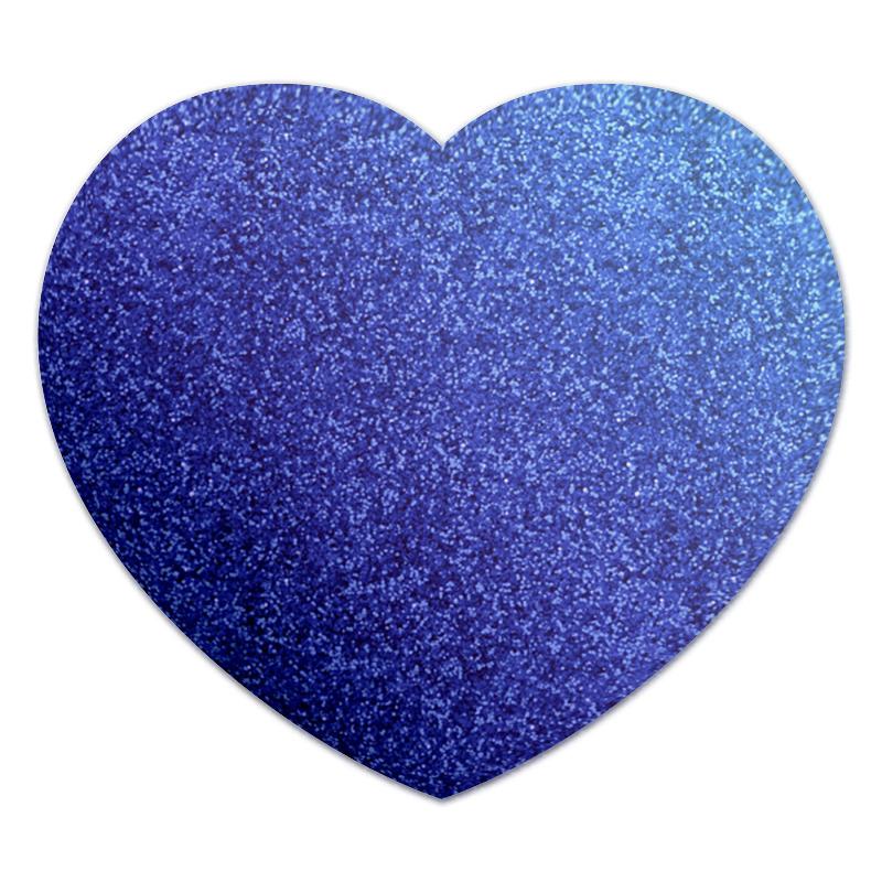Коврик для мышки (сердце) Printio Синее сердце коврик для мышки сердце printio лесные цветы