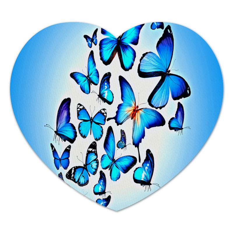 Коврик для мышки (сердце) Printio Бабочки printio коврик для мышки сердце