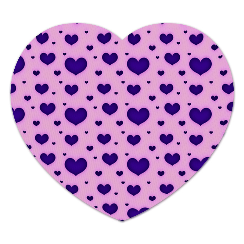 Коврик для мышки (сердце) Printio Синее сердце коврик для мышки сердце printio кошки