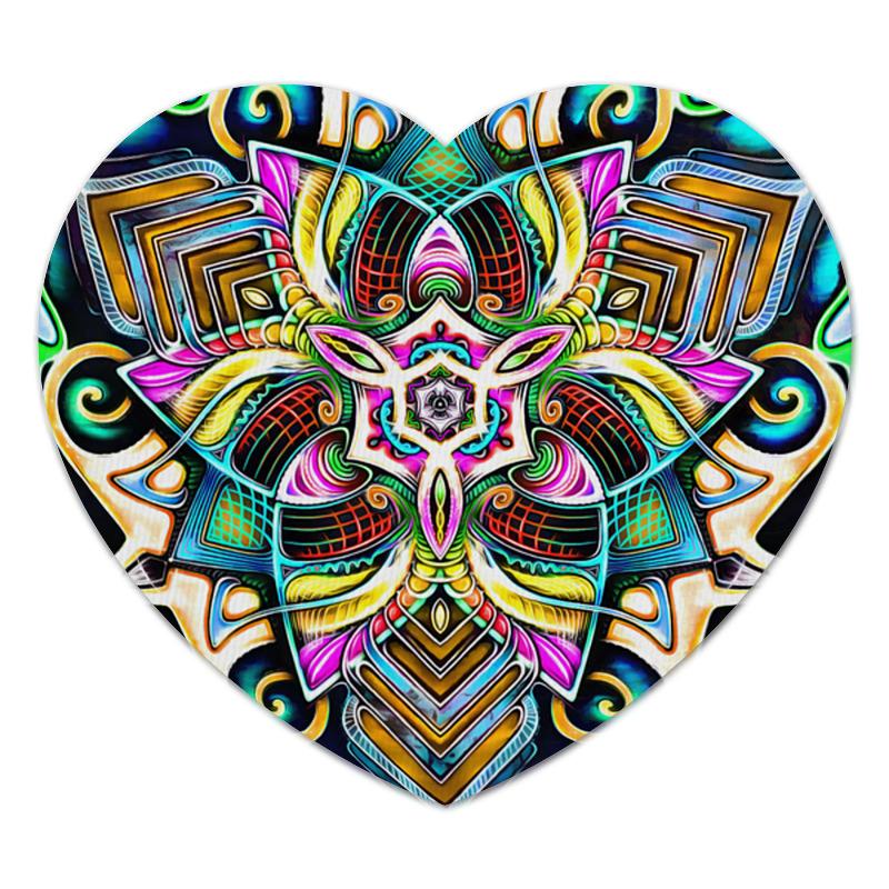 Коврик для мышки (сердце) Printio Mandala hd 4 коврик для мышки круглый printio mandala hd2