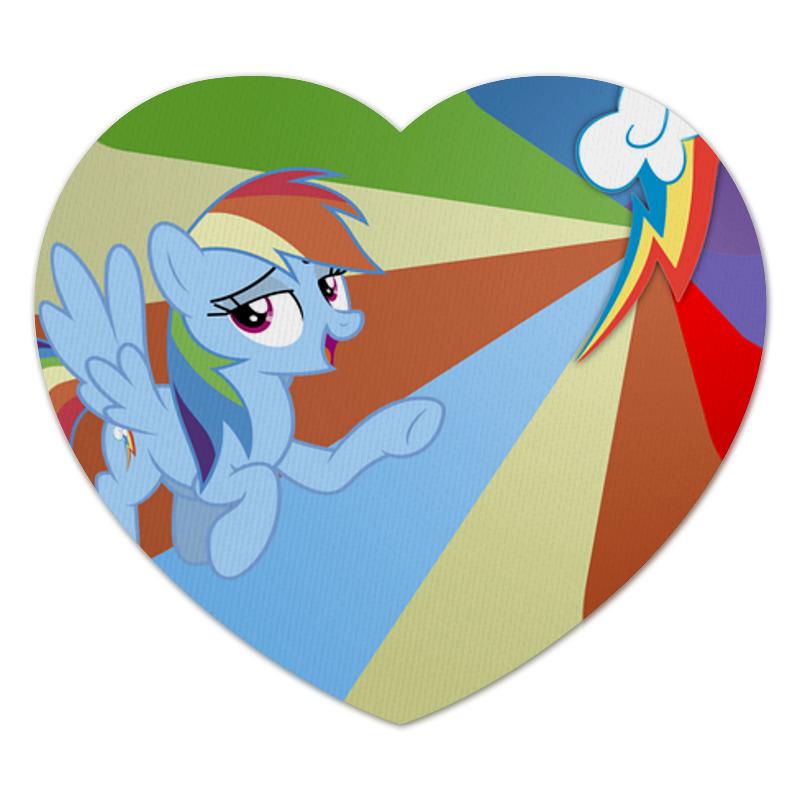 Коврик для мышки (сердце) Printio Rainbow dash color line