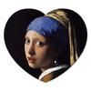 """Коврик для мышки (сердце) """"Девушка с жемчужной серёжкой (Ян Вермеер)"""" - картина, живопись, вермеер"""