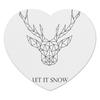 """Коврик для мышки (сердце) """"Dear Deer"""" - рисунок, дизайн, олень, минимализм, рога"""