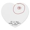 """Коврик для мышки (сердце) """"CD или титя"""" - диск, грудь, cd, не царапать"""