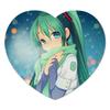 """Коврик для мышки (сердце) """"Miku Hatsune Sush"""" - аниме, hatsune, мику, бесконечное лето, miku"""