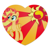 "Коврик для мышки (сердце) ""Sunset Shimmer Color Line"" - sun, cutiemark, sunset shimmer"