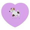 """Коврик для мышки (сердце) """"ДЖЕК РАССЕЛ.СОБАКА"""" - майкл джексон, щенок, собака, животное, рассел"""