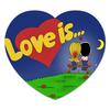"Коврик для мышки (сердце) ""love is"" - сердце, heart, love is, любовь это, пары"