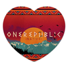 "Коврик для мышки (сердце) ""OneRepublic Native Art"" - арт, art, фан-арт, native, onerepublic"