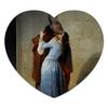 """Коврик для мышки (сердце) """"Поцелуй (Франческо Айец)"""" - картина, поцелуй, живопись, айец"""
