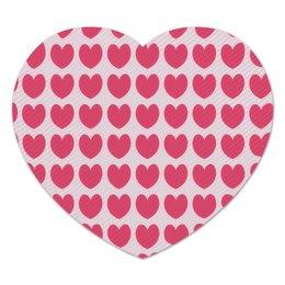 """Коврик для мышки (сердце) """"Розовое сердце"""" - сердце, любовь, узор, сердечки, день валентина"""