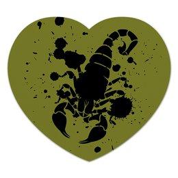 """Коврик для мышки (сердце) """"Скорпион (24.10-21.11)"""" - крутой, оригинальный, стильный, скорпион, биология"""