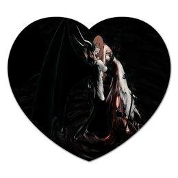 """Коврик для мышки (сердце) """"Любовь аниме"""" - любовь, девушка, аниме, демон, японские"""
