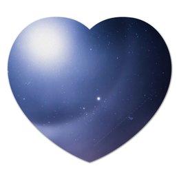 """Коврик для мышки (сердце) """"Без названия"""" - космос, небо, луна, звёзды, галактика"""