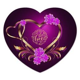 """Коврик для мышки (сердце) """"Любовь"""" - сердце, любовь, валентинка, день св валентина"""