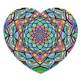 "Коврик для мышки (сердце) ""Mandala HD2"" - узор, ретро, классика, этно, симметрия"