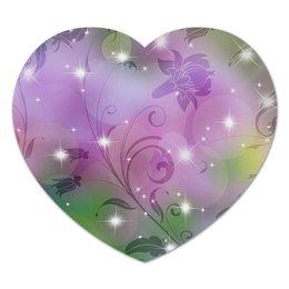 """Коврик для мышки (сердце) """"Лилия"""" - цветок, лилия"""