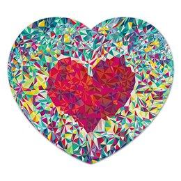 """Коврик для мышки (сердце) """"Сердце"""" - сердце, heart, love, день святого валентина"""