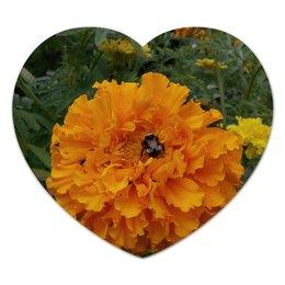 """Коврик для мышки (сердце) """"Удивительный Алтай"""" - altay, лето, алтай, горный алтай, цветы"""