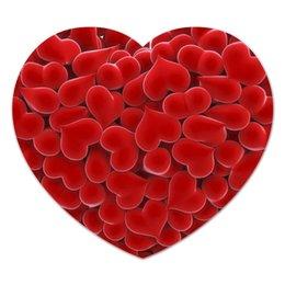 """Коврик для мышки (сердце) """"Валентинка"""" - день святого валентина, 14 февраля, 8 марта, сердечки, hearts"""