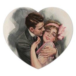 "Коврик для мышки (сердце) ""Винтажная пара"" - сердце, любовь, 14 февраля, ко дню влюбленных, valentine's day"