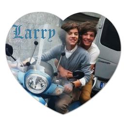 "Коврик для мышки (сердце) ""Ларри"" - one direction, ларри, 1d, harry styles"