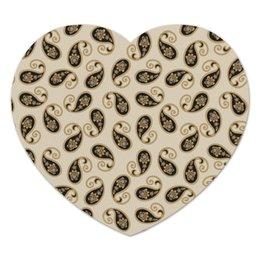 """Коврик для мышки (сердце) """"Пейсли (Классика)"""" - узор, цветок, классика, лепесток, пейсли"""