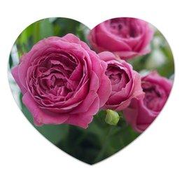 """Коврик для мышки (сердце) """"Розовые розы"""" - праздник, цветы, весна, розовый, розы"""