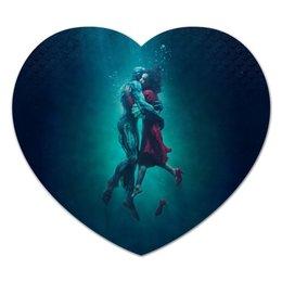 """Коврик для мышки (сердце) """"Форма воды"""" - форма воды, кино, оскар, любовь, фэнтези"""