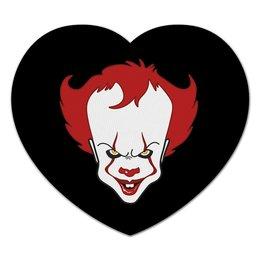 """Коврик для мышки (сердце) """"""""IT"""" Танцующий клоун"""" - клоун, clown, оно, pennywise, пеннивайз"""