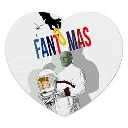 """Коврик для мышки (сердце) """"Фантомас"""" - кино, супергерой, superhero, фантомас, fantomas"""