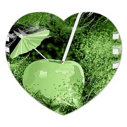 """Коврик для мышки (сердце) """"Яблочный микс"""" - фрукт, абстракция, яблоко, напиток, натюрморт"""