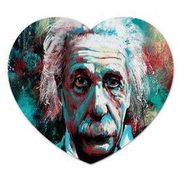 """Коврик для мышки (сердце) """"Альберт Эйнштейн"""" - наука, эйнштейн, ученый"""