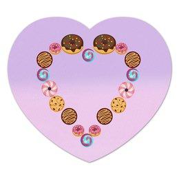 """Коврик для мышки (сердце) """"Ladies heart"""" - сердце, конфета, сладкое, пончик"""