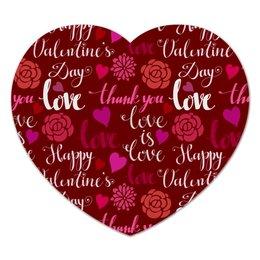 "Коврик для мышки (сердце) ""День Св. Валентина"" - день св валентина, валентинка, сердца, любовь"