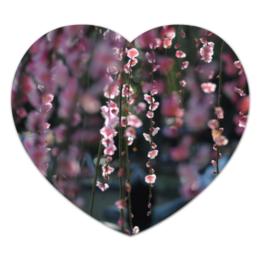 "Коврик для мышки (сердце) ""Цветущая сакура"" - любовь, цветы, солнце, красота, япония, japan, сакура, cherry blossom, sakura"