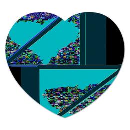 """Коврик для мышки (сердце) """"Инверсия сердца"""" - сердце, сердца, голубой, синий, линия"""