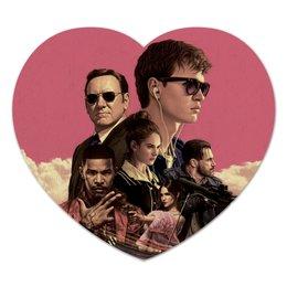 """Коврик для мышки (сердце) """"Baby Driver"""" - музыка, девушки, знаменитости, оружие, малыш на драйве"""