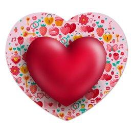"""Коврик для мышки (сердце) """"Сердце"""" - сердце, валентинка, день св валентина"""