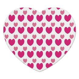 """Коврик для мышки (сердце) """"Розовые сердечки"""" - сердце, сердечки, любовь, день влюбленных, узор"""