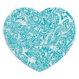 "Коврик для мышки (сердце) ""ccddmvbh523"" - арт, узор, абстракция, фигуры, текстура"